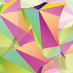 Colorful Triangles Background Vector
