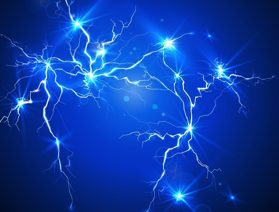 Free Blue Lightning Background Vector 01 - TitanUI