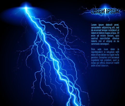 Free Blue Lightning Background Vector 02 - TitanUI