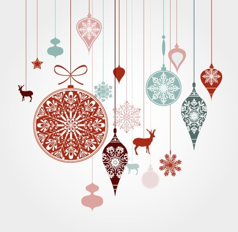 Free hanging christmas holiday ornaments vector titanui - Hanging christmas ornaments ...