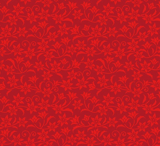 Free Red Flower Pattern Background Vector