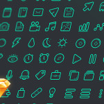 Green Line Icon Set Sketch