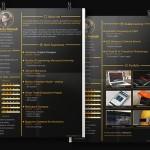 Dark Gold Resume & CV Template PSD