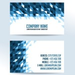 Blue Geometric Corporate Business Card Template Vector