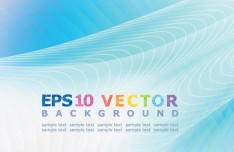 Blue Abstract Vector Background 03