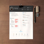Clean Resume / CV Template PSD