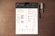 Clean Resume CV Template PSD