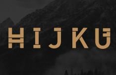 HIJKU Heading Typeface Vector