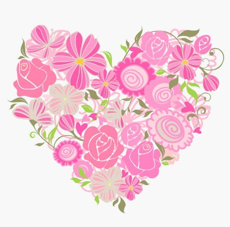 Free Pink Heart Of Roses Vector - TitanUI Pink Roses And Hearts