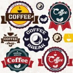 Retro Coffee Badge Set Vector