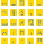 IKEA Furniture Icon Set Vector