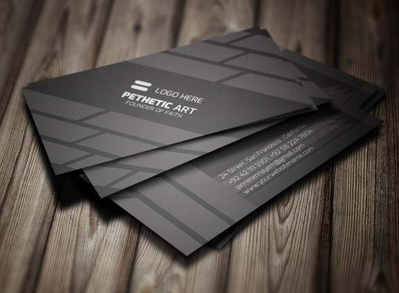 Free creative black business card template psd titanui for Business card template black