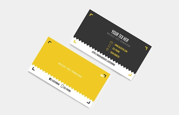 Free Black Yellow Vector Business Card Template TitanUI - Free vector business card templates