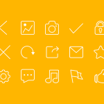 15 Thin Line Icons Set PSD