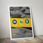 Corporate Flyer Mockup PSD