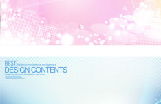 Bright Abstract Bubbles Background Set Vector 02