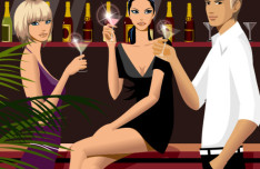 Drinking Man and Women Bar Vector