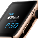 Apple Watch Edition Template PSD