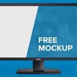 Dell Monitor Mockup PSD