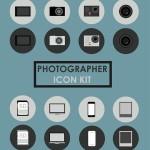 Photographer Icon Set PSD