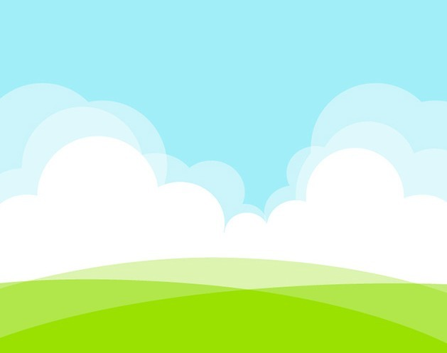 Free Grassland White Clouds Vector Illustration Titanui