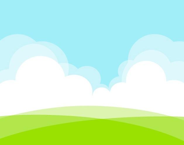Free Grassland White Clouds Vector Illustration Titanui