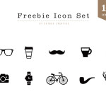 10 Hipster Icons Vector
