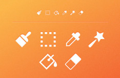 6 Toolbar Icons Vector