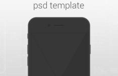 Minimal iPhone 6 Template PSD