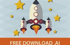 Flat Spaceship Illustration Vector