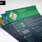 3 Color Resume / CV Template PSD