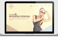 Hexagon - One Page Portfolio Website Template PSD