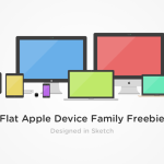 Flat Colorful Apple Devices Sketch