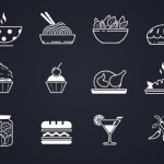 12 Summer Food Icons Vector