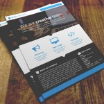 Ectro Corporate Flyer PSD Template (3 Colors)