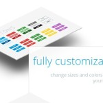 Full Customizable Flat UI KIT PSD