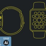 Apple Watch Line Mockup Vector
