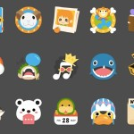 15 Flat One Piece Icons PSD