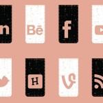 20 Retro Style Social Media Icons Vector
