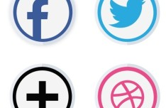 Material Social Icons Badges SVG