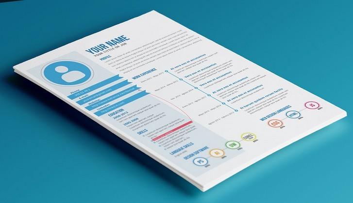 free modern blue resume template psd titanui