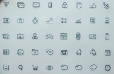 Fblu - 40 Line Icon Set (AI+PSD)