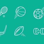 10 Sports Icons Vector