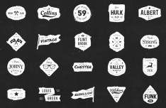 20 Ink Logos Badges (PSD+Vector)