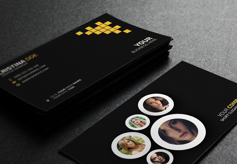 free photography business card template psd titanui