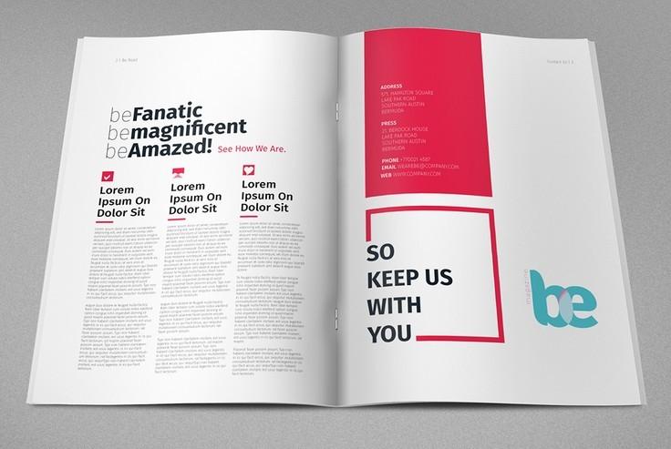 Free magazine brochure print template psd titanui for A4 brochure template psd free download