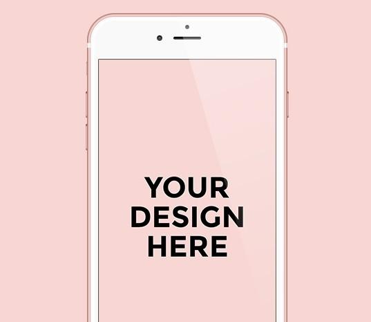 free iphone 6s 6s plus rose gold template psd titanui. Black Bedroom Furniture Sets. Home Design Ideas
