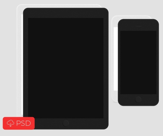 Free Flat iPhone & iPad Templates PSD - TitanUI