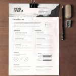 Clean Realistic Resume / CV Template PSD