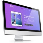 Olivia One Page Landing Page Template PSD